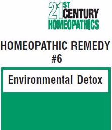 21st CENTURY HOMEOPATHICS--REMEDY #6 (Environment Detox) - 4 Ounces Liquid